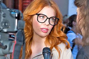 Анастасия Стоцкая привела повзрослевшего сына на модный показ