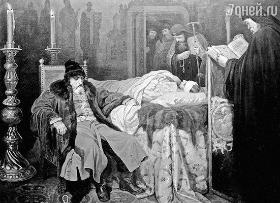 Картина В.Шварца «Иван Грозный у тела убитого им сына» (1864 г.)
