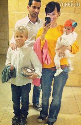 Анастасия Цветаева с мужем и детьми
