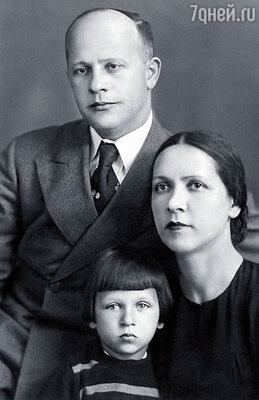 Игорь Кваша с родителями Владимиром Ильичом и Дорой Захаровной