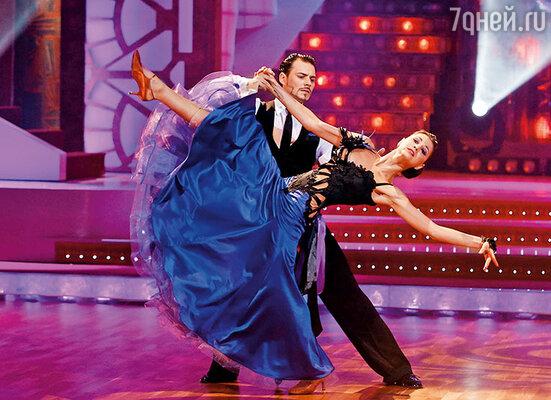 Я с партнером по проекту «Танцы со звездами» Димой Ташкиным
