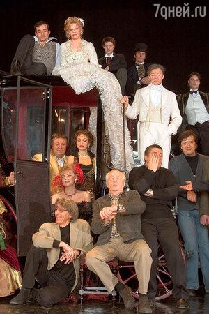 Актеры «Ленкома» на репетиции спектакля «Ва-банк». 2006 г.