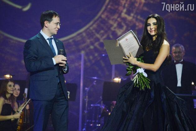 Певица Зара на сцене Кремля