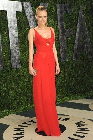 Диана Крюгер в платье от Calvin Klein на вечеринке Vanity Fair Oscar Party в 2012 году