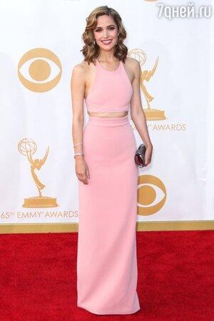 Роуз Бирн в платье от Calvin Klein на красной дорожке Emmy Awards в 2013 году