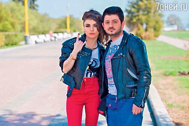 Анна Плетнева и Михаил Галустян на съемках клипа