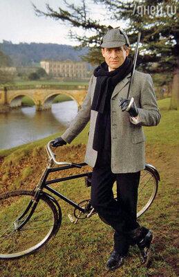 Джереми Бретт в роли Шерлока Холмса. Телесериал «Приключения Шерлока Холмса»
