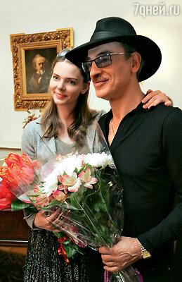 С отцом, Михаилом Боярским, на открытии выставки «Актерские династии. Боярские». Санкт-Петербург, 2012 г.