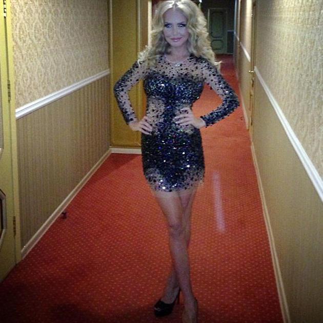 Маша Малиновская в платье Jovani