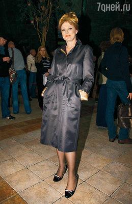 Лариса Удовиченко на модном показе, организованном Татьяной Михалковой, выступила в роли модели