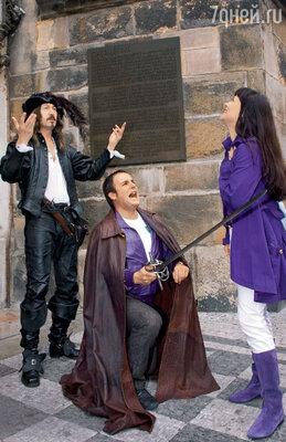 Нонна Гришаева почувствовала себя в Праге принцессой, из-за которой рыцари дерутся на шпагах. С мужем Александром Нестеровым. 2006 год