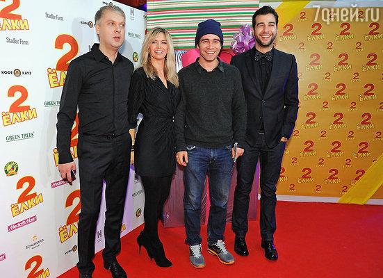 Сергей Светлаков,  Вера Брежнева, Петр Федоров, Иван Ургант