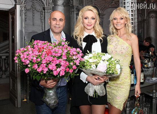 Кристина Орбакайте и Валерия с мужем Иосифом Пригожиным