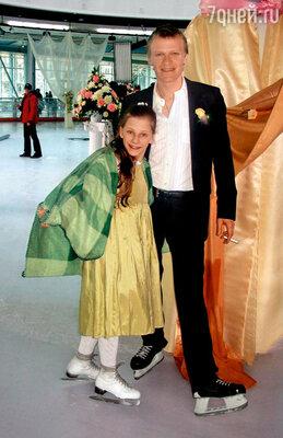 С Алексеем Серебряковым на съемках фильма «Свои дети»