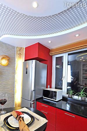 Идеи для дизайна: кухня в форме ракушки