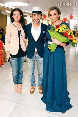 Анфиса Чехова и Тимур Родригез с женой Анной