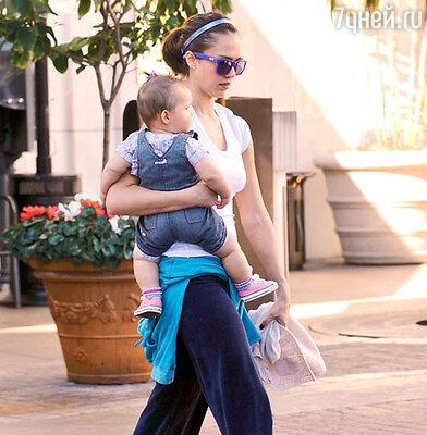 Джессика Альба с дочерью Хонор Мари
