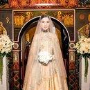 Платье для венчания Алены Ахмадуллиной придумано самой невестой