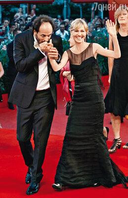 Члены жюри 67-го Венецианского фестиваля итальянский режиссер Лука Гуаданьино и Ингеборга Дапкунайте