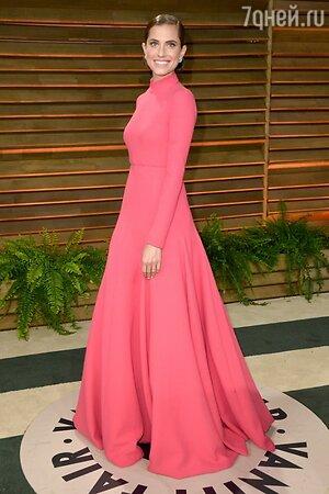 Эллисон Уильямс в платье от Emilia Wickstead на вечеринке Vanity Fair Oscar Party