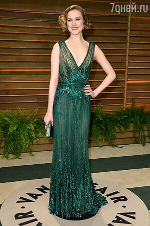 Эван Рейчел Вуд в платье от Elie Saab на вечеринке Vanity Fair Oscar Party
