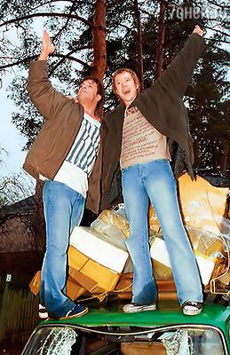 Сергей Астахов и Евгений Миронов на съемках фильма «Есть идея...» Они давние хорошие друзья