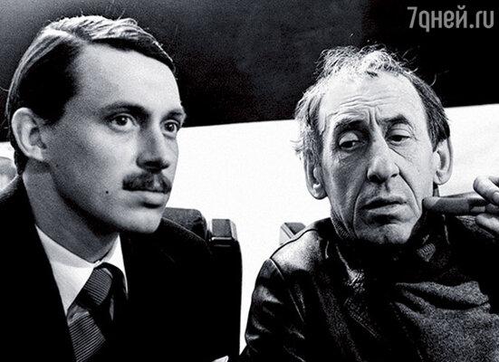 С отцом во время съемок его картины «Время и семья Конвей»