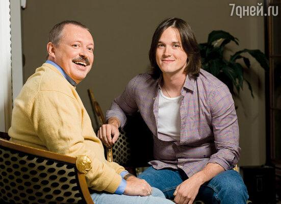 Владимир Басов с сыном Иваном