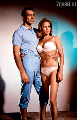 Шон Коннери и Урсула Андресс впервом фильме об агенте 007 «Доктор Ноу». 1962 г.