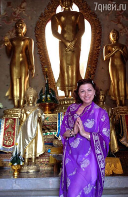 На третьем — в буддийском храме