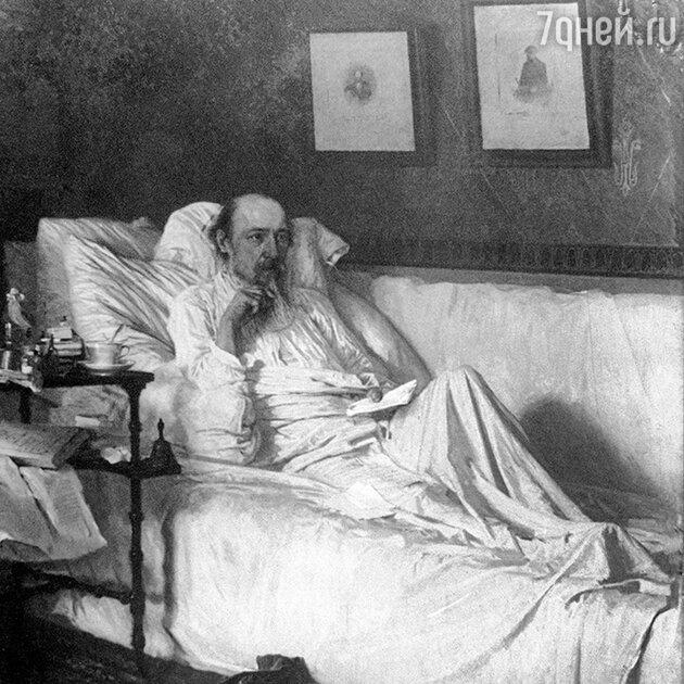 Картина Крамского «Николай Некрасов в период «Последних песен». 1877 г. Фрагмент