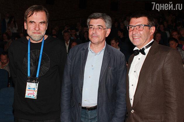 Сергей Сельянов, Игорь Толстунов и Евгений Гришковец