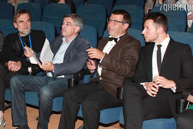 Сергей Сельянов, Игорь Толстунов, Евгений Гришковец и Вячеслав Манучаров