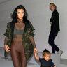 Ким Кардашьян с дочкой Норс