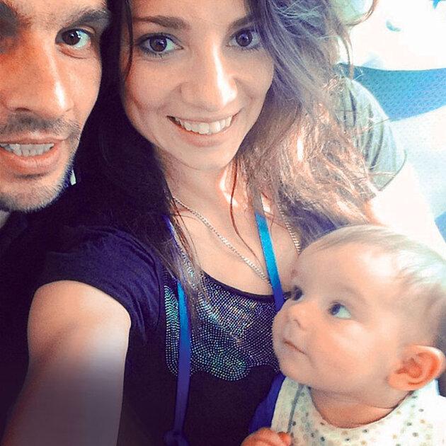 Светлана Светикова с гражданским мужем Алексеем Полищуком и сыном Миланом