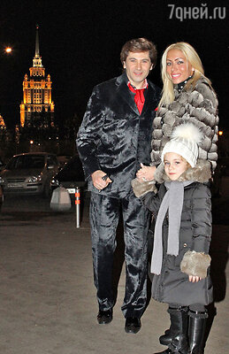 Авраам Руссо с женой Мореллой и дочерью Ми-Ми