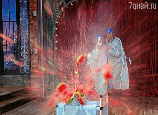 Тот самый взрыв арбуза. Кадр из программы «Вечерний Ургант»