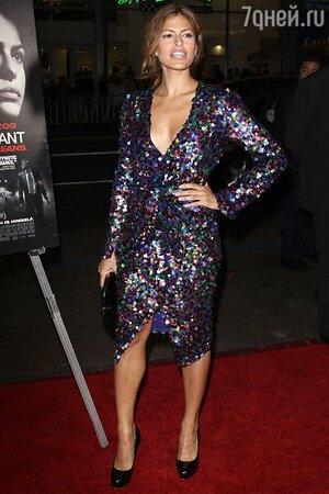 Ева Мендес в платье от Chris Benz на премьере картины «The Bad Lieutenant: Port Of Call New Orleans» в 2009 году