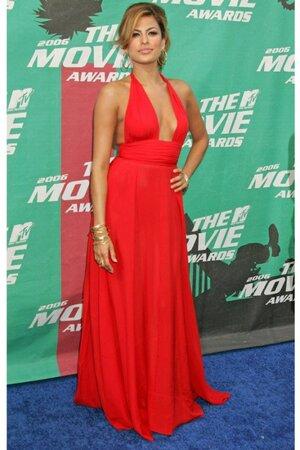 Ева Мендес в платье от Calvin Klein на премии MTV Movie Awards в 2006 году