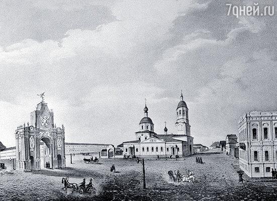 Москва. Площадь Красных Ворот. Слева — дом, где в ночь со 2 на 3 октября 1814 года родился Лермонтов. Сегодня на его месте — высотное здание