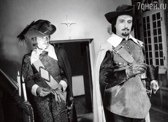 Игорь Старыгин и Вениамин Смехов в фильме «Д'Артаньян и три мушкетера». 1978 г.
