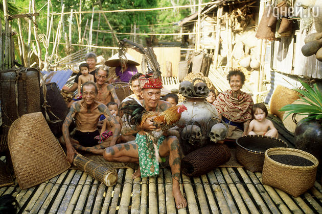 Остров Борнео, даяки