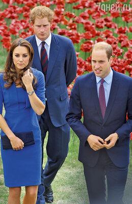 В последнее время отношения Кейт иУильяма с принцем Гарри стали немного напряженными...
