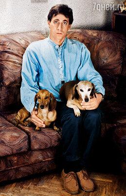 Женя с нашими собаками Чучей и Шляпой