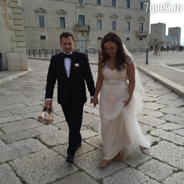 Андрей Гайдулян с женой Дианой Ачиловой