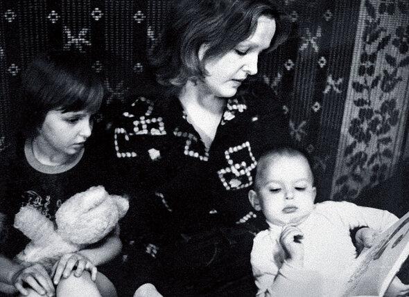 С дочкой Ирочкой и сыном Пашей