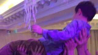 ВИДЕО: Екатерина Климова отмечает 8-летие сына Корнея