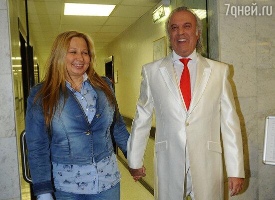 Илья Резник с гражданской женой Ириной