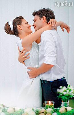 С Максимом Матвеевым в день свадьбы. 28 июля 2010 г.