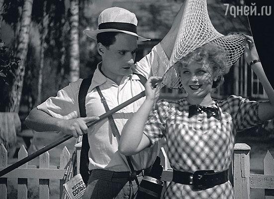 С Павлом Шпрингфельдом вфильме «Сердца четырех». 1941 г.
